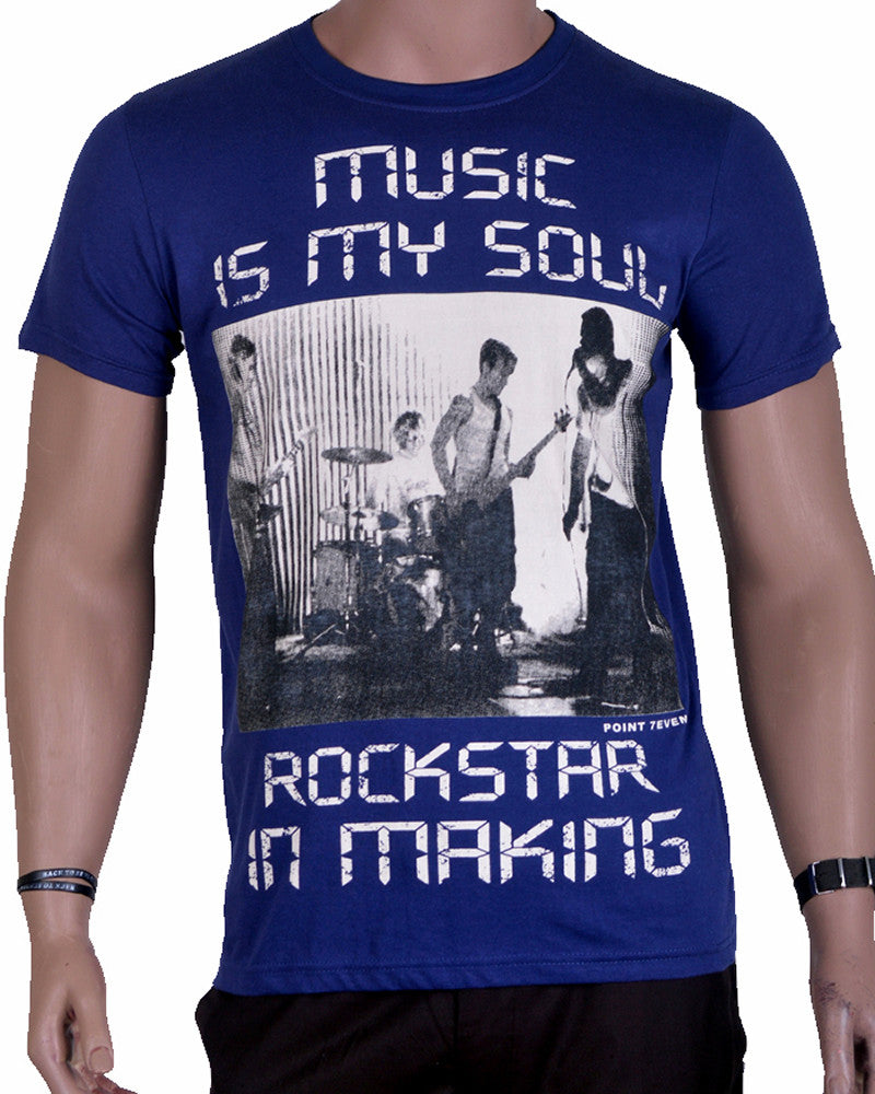 Music My Soul T-Shirt - Dark Blue - Medium