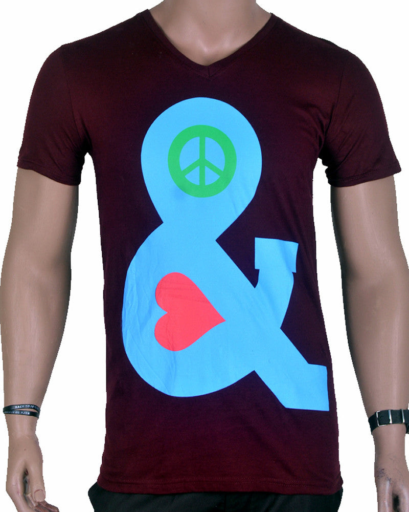 Blue Ampersand - T-Shirt - Brown - Medium