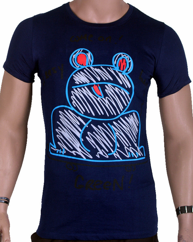Bunny Ears - T-Shirt - Blue - Medium