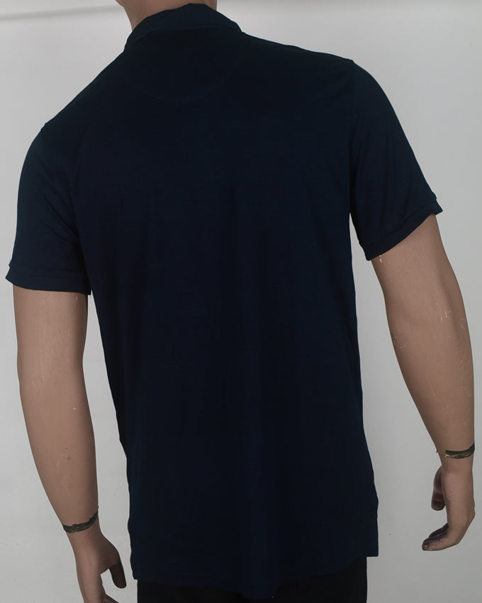 Plain Blue Polo  - XXL