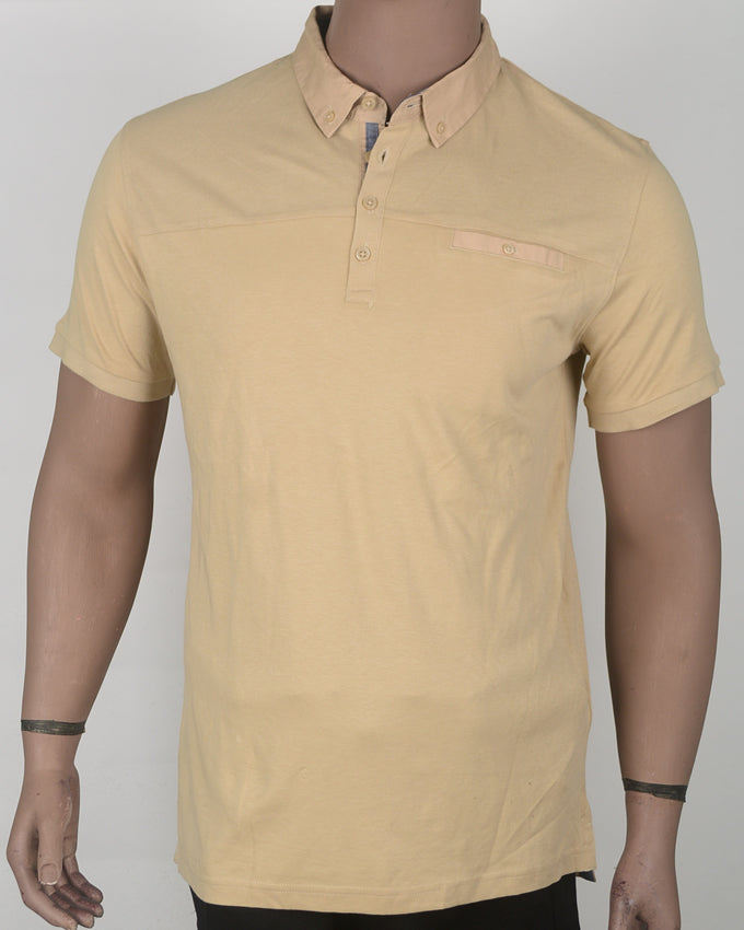Plain Brown Polo  - Large
