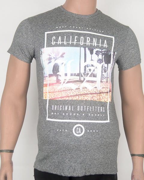 California Print  Grey T-shirt - Small