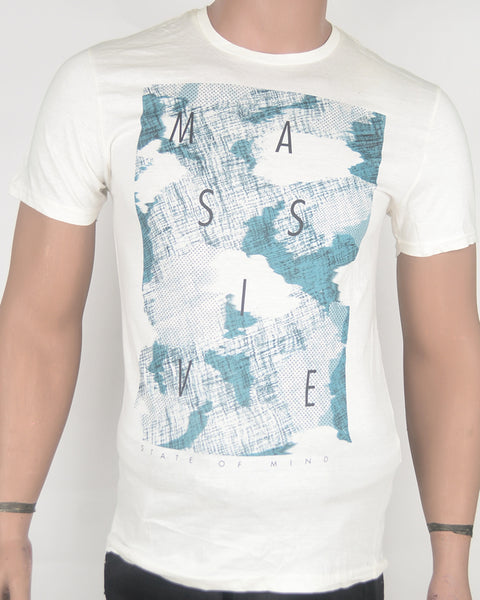 Massive Print White  T-shirt - Small