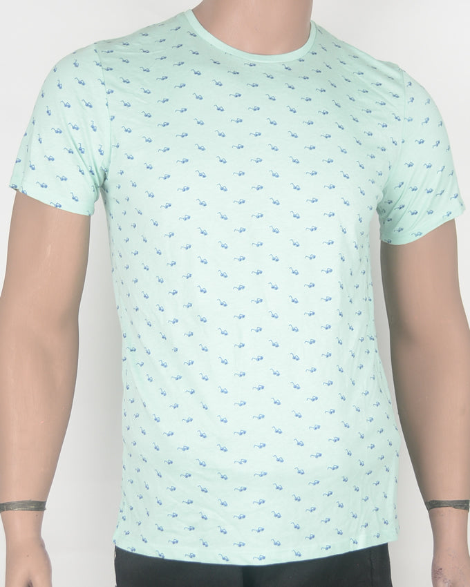 Shades Print Green T-shirt - Small