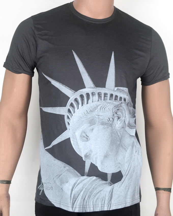 Statue of Liberty Grey T-shirt - Small