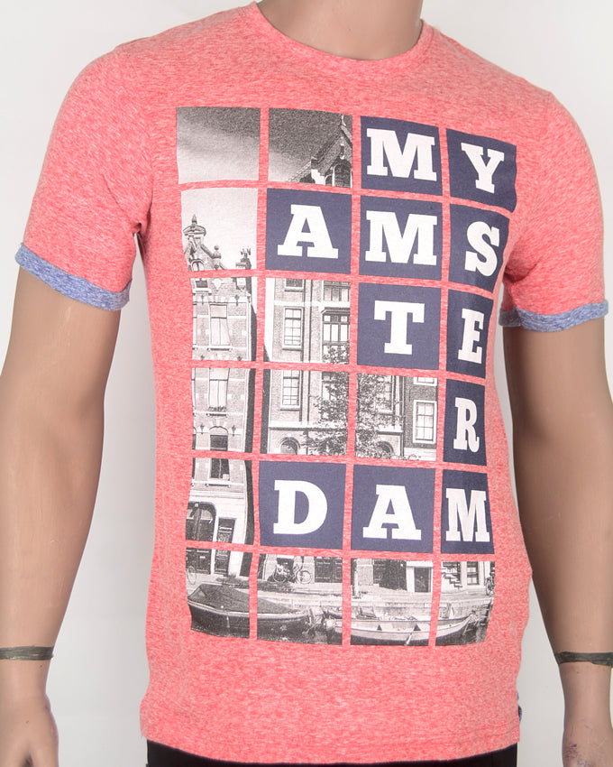 My Amsterdam Light Red T-shirt - Small