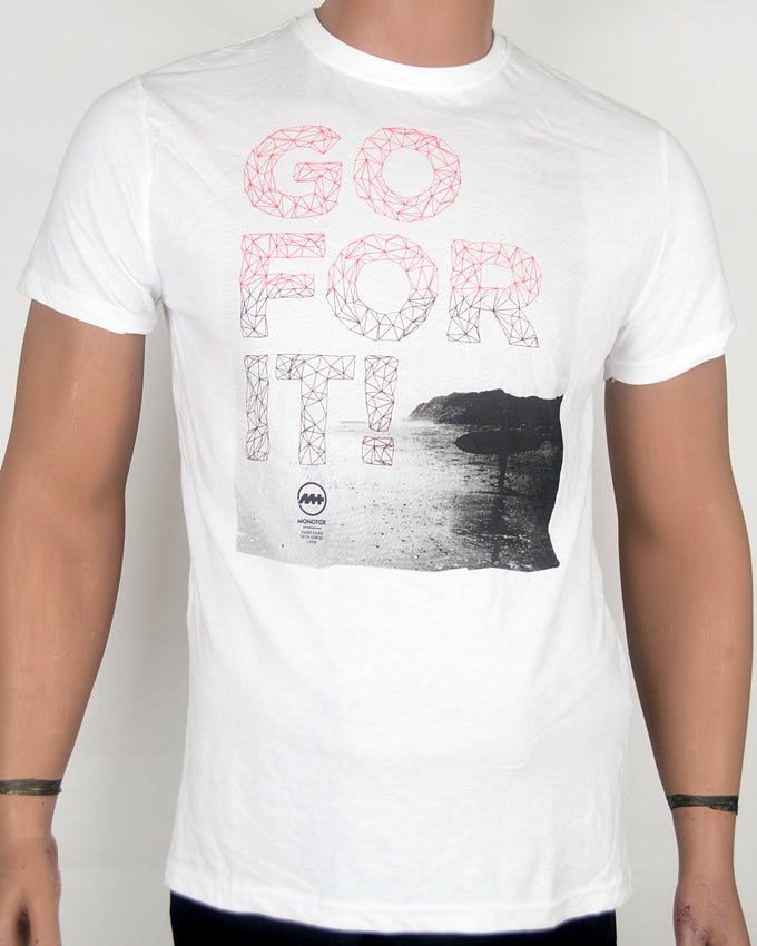 Go For It White T-shirt - Small
