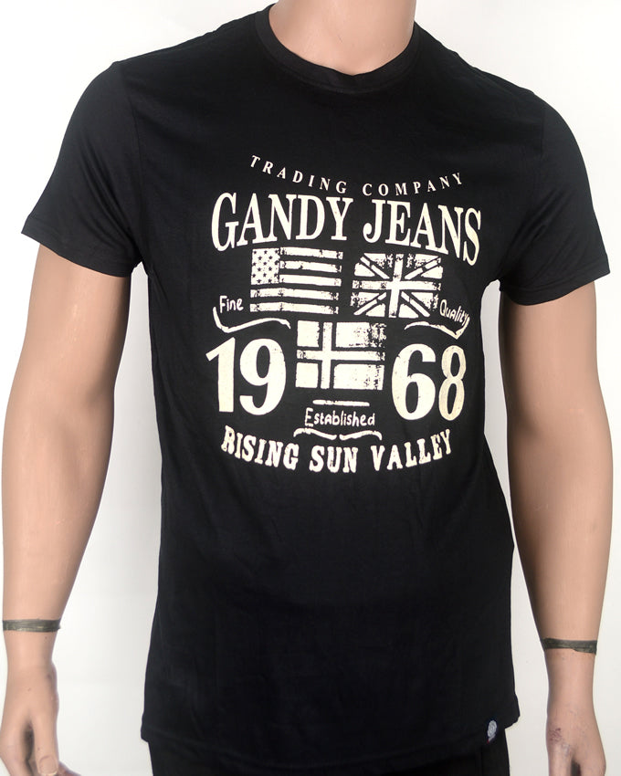 Gandy Jeans Black  T-shirt - Small