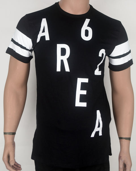 Area 62 Print Black 2 T-shirt - Small