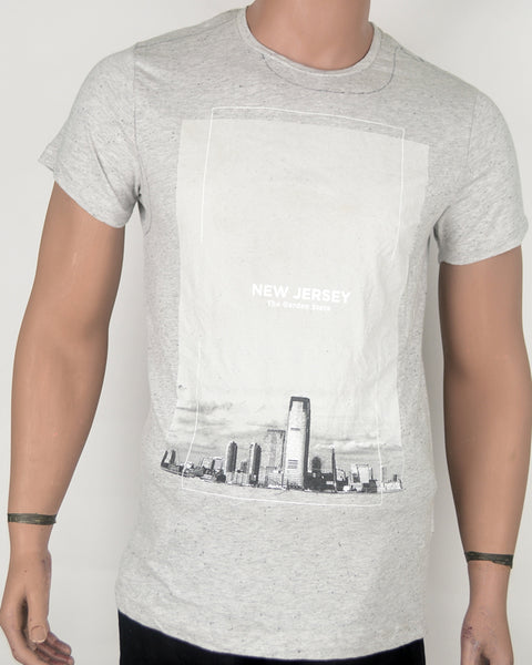 New Jersey Skyline Grey T-shirt - Small