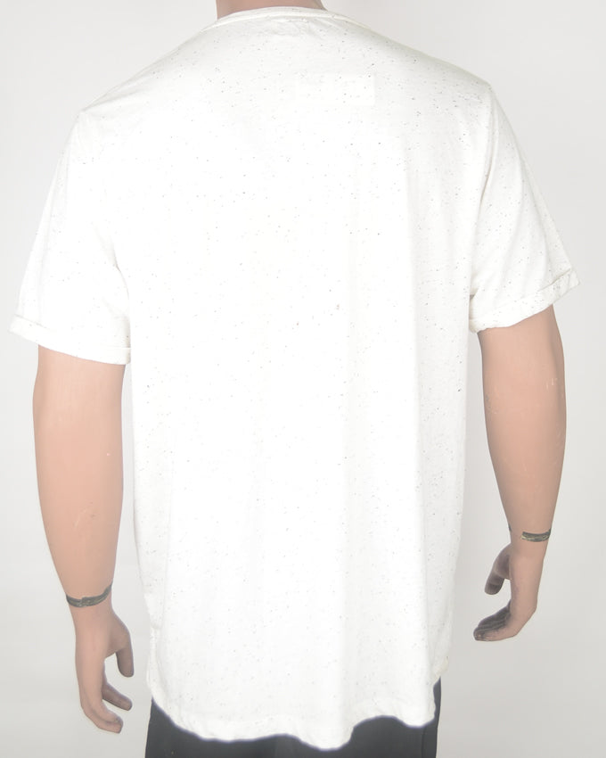 Vintage Motors White Dotted T-shirt - XXL