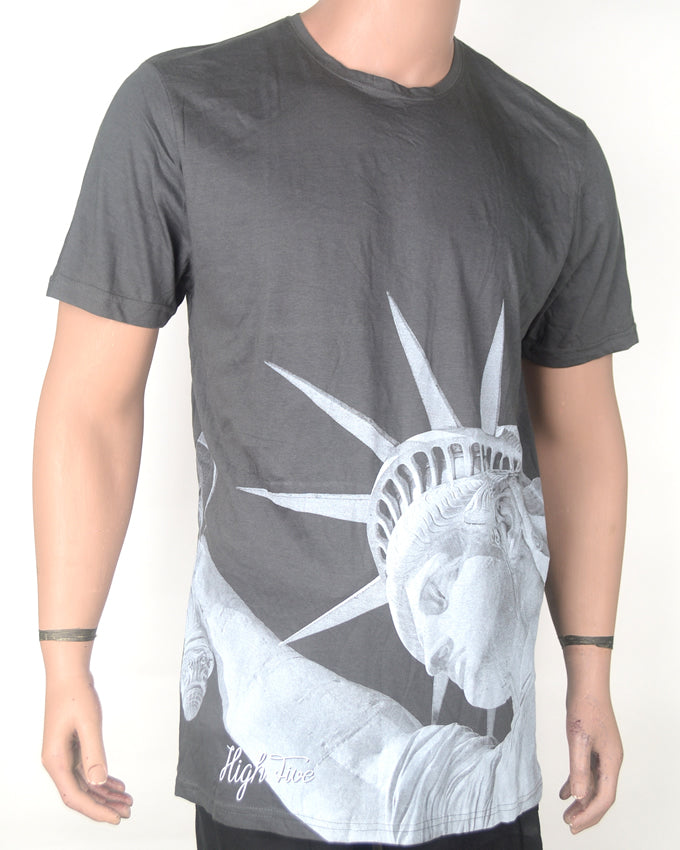 Statue of Liberty Grey T-shirt - XXL