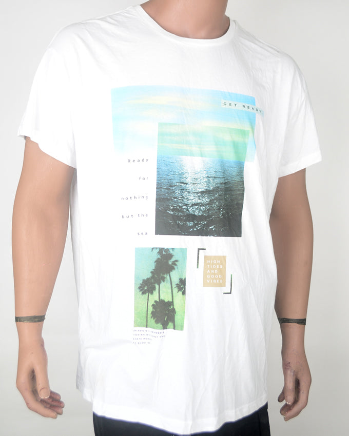 Get Ready For Sea White T-shirt - XXL