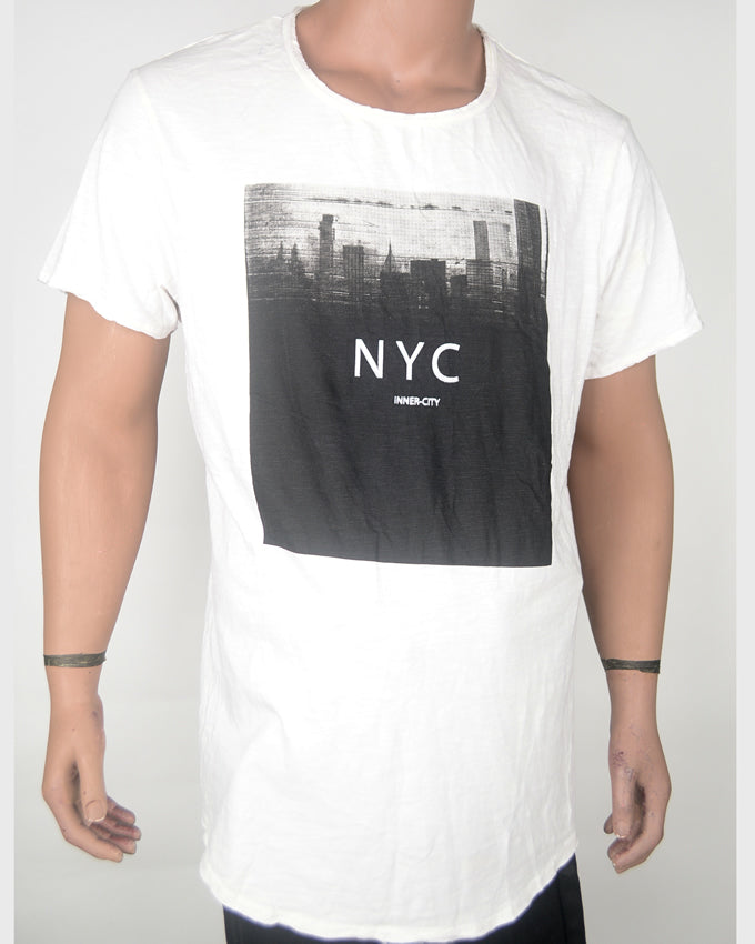 NYC Inner City White T-shirt - XXL