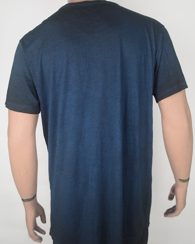 Plain Dark Blue With Pocket T-shirt - XXL