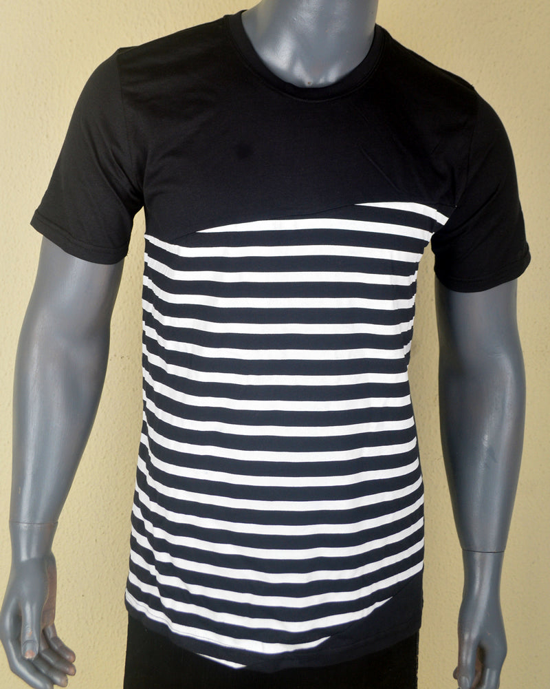 Black with White Stripes - XL