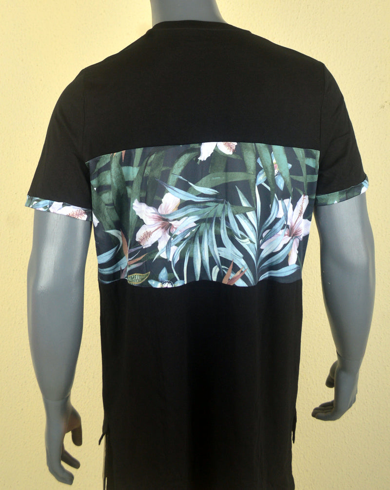 Elevation Flower Print -  Black - XL