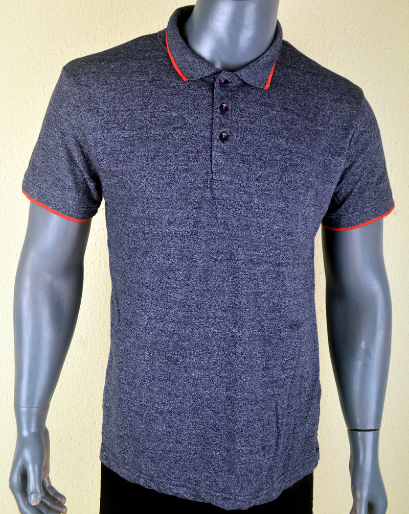 Plain Grey Polo - Medium