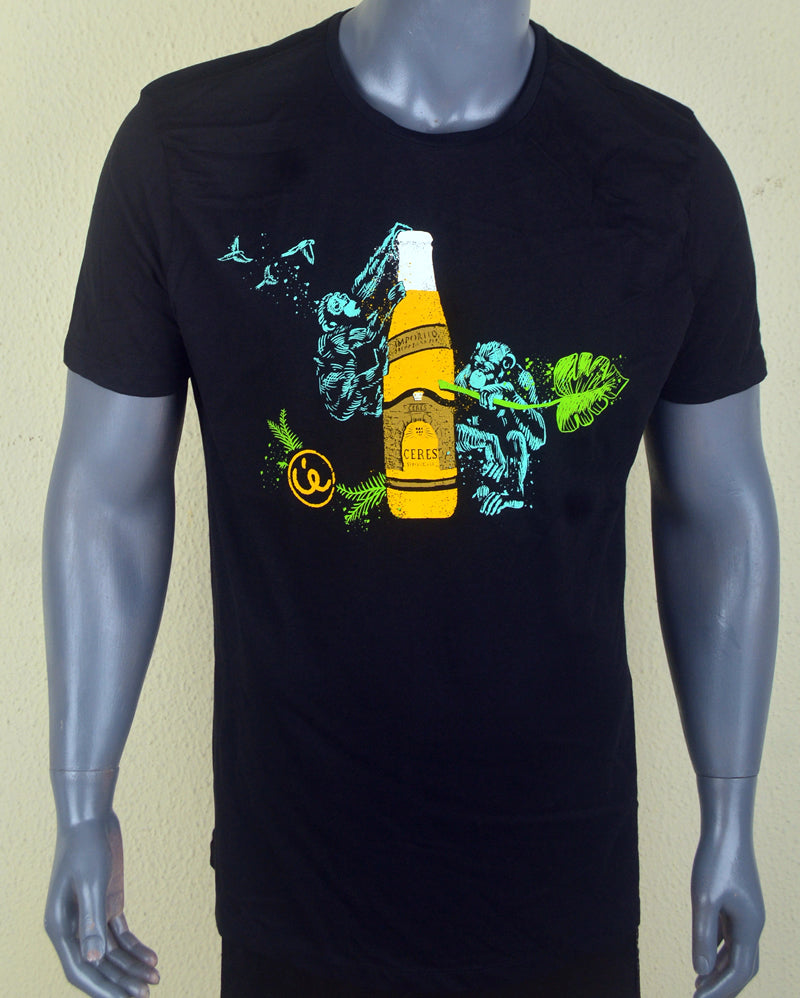 Yellow Bottle Print T-shirt - XL