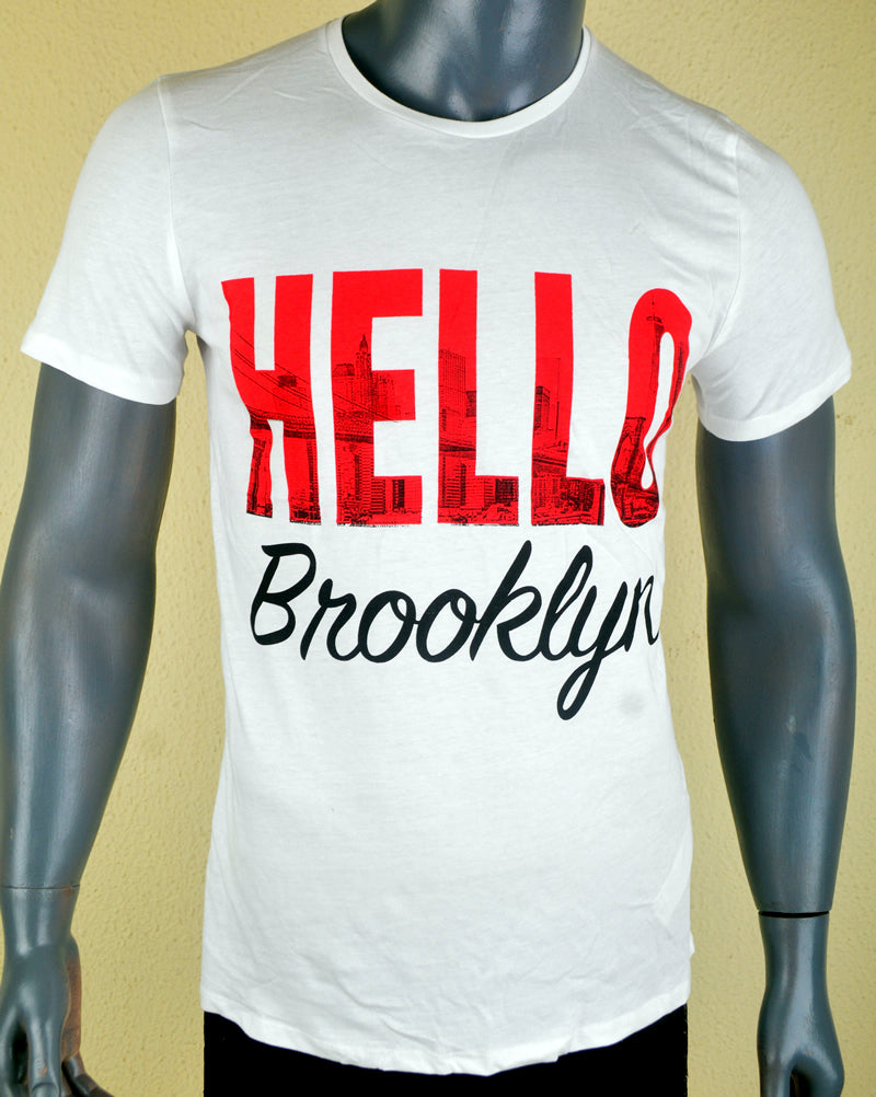 Hello Brooklyn White - Medium