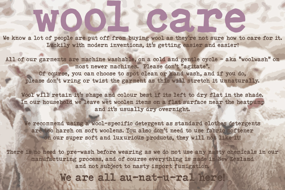 wool care sheep