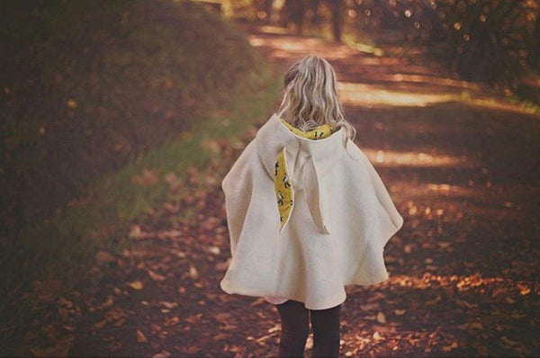 Classic Girls Cape hand made with pure New Zealand wool
