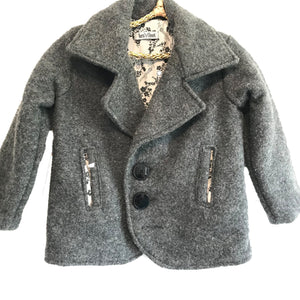 Country Coat - Grey with flowery lining