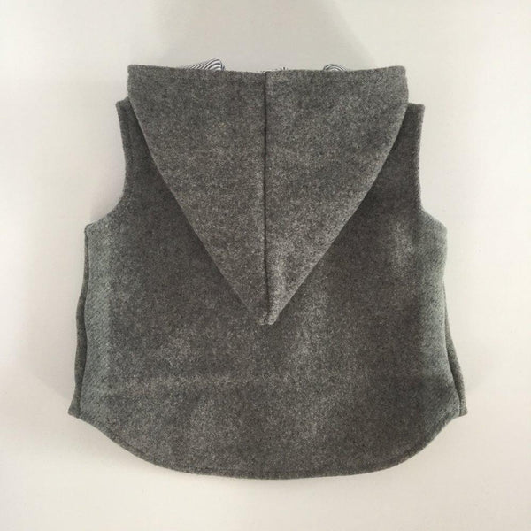 Vest - Pixie Hood - Grey with Silver white lining