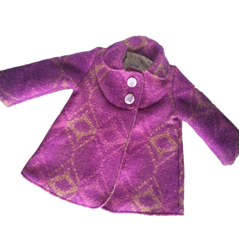 Swing Coat - Mauve with floral lining