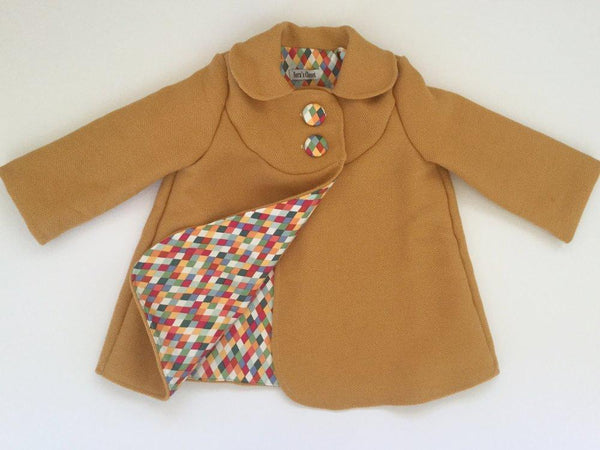Swing Coat - Vintage Mustard with Jester Diamond lining