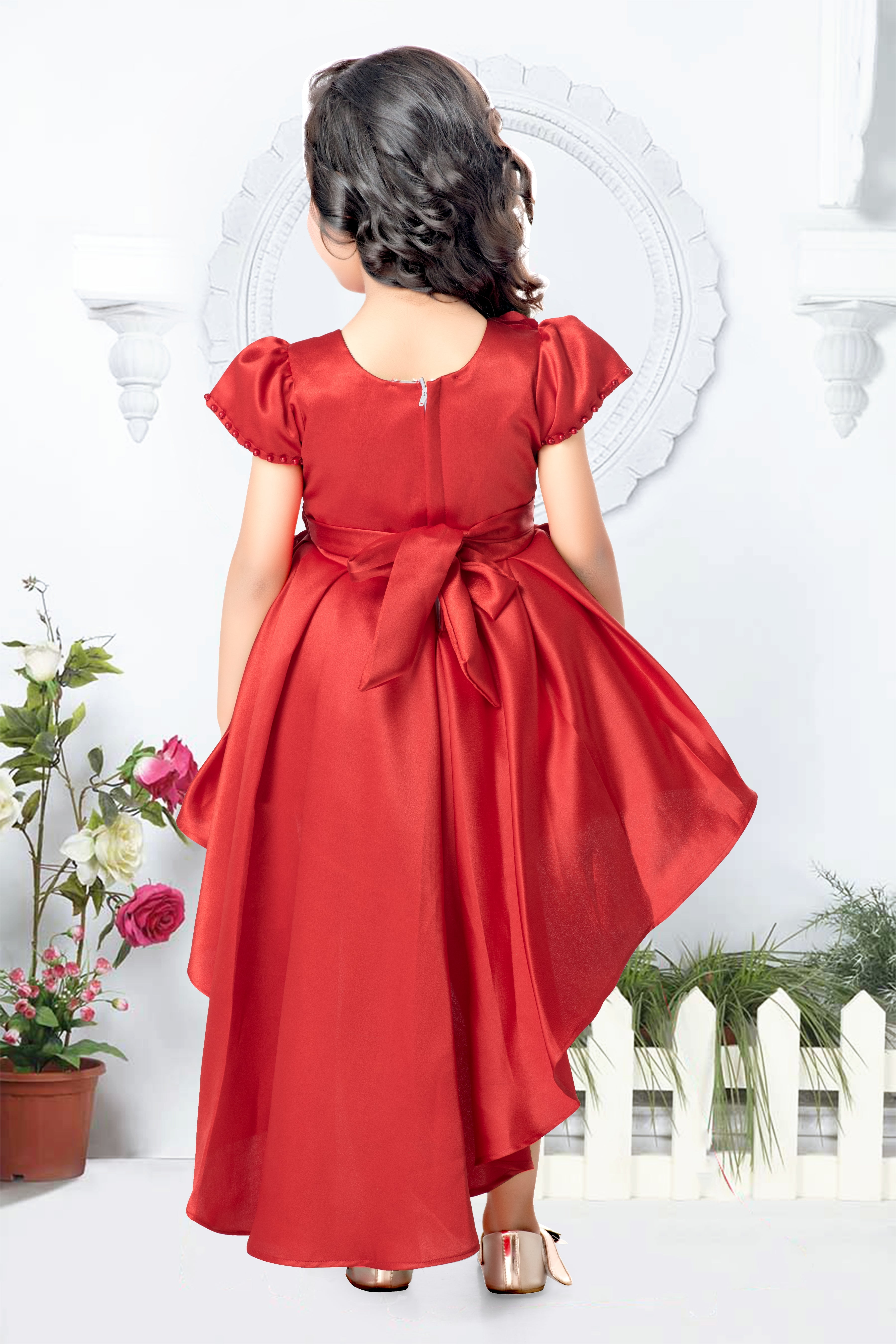 Red Hi Low Frock
