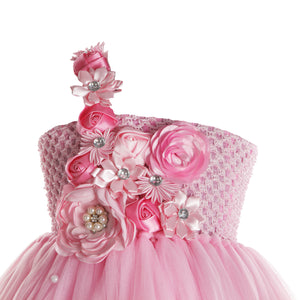 Pink Flowers Frock