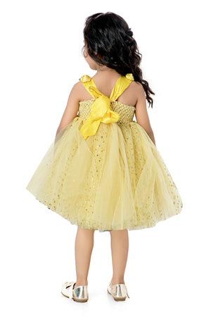 Yellow Sparkle Frock
