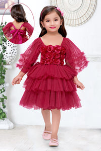 Sparkle Rani Pink  Frock