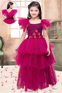 Rani Pink  Layers Gown