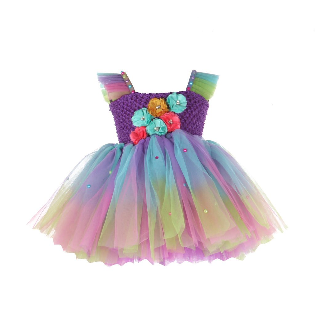 Colorful Flowers Frock