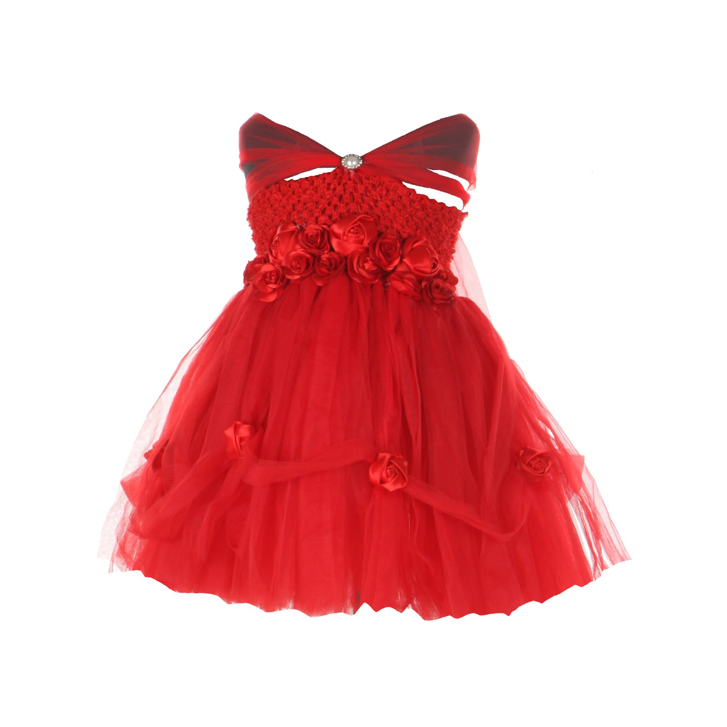 Red Ball Gown Frock