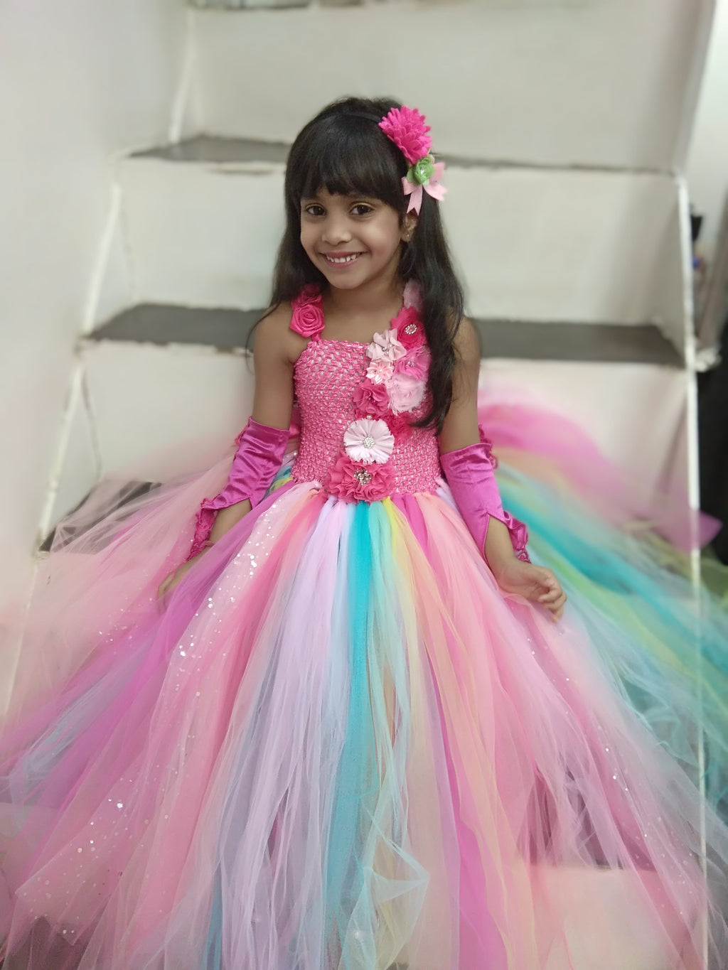 Pastel Unicorn Ball Gown