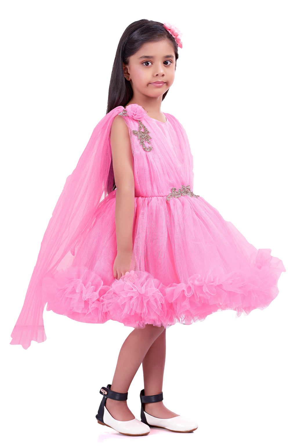 Pink Ruffle Party  Frock