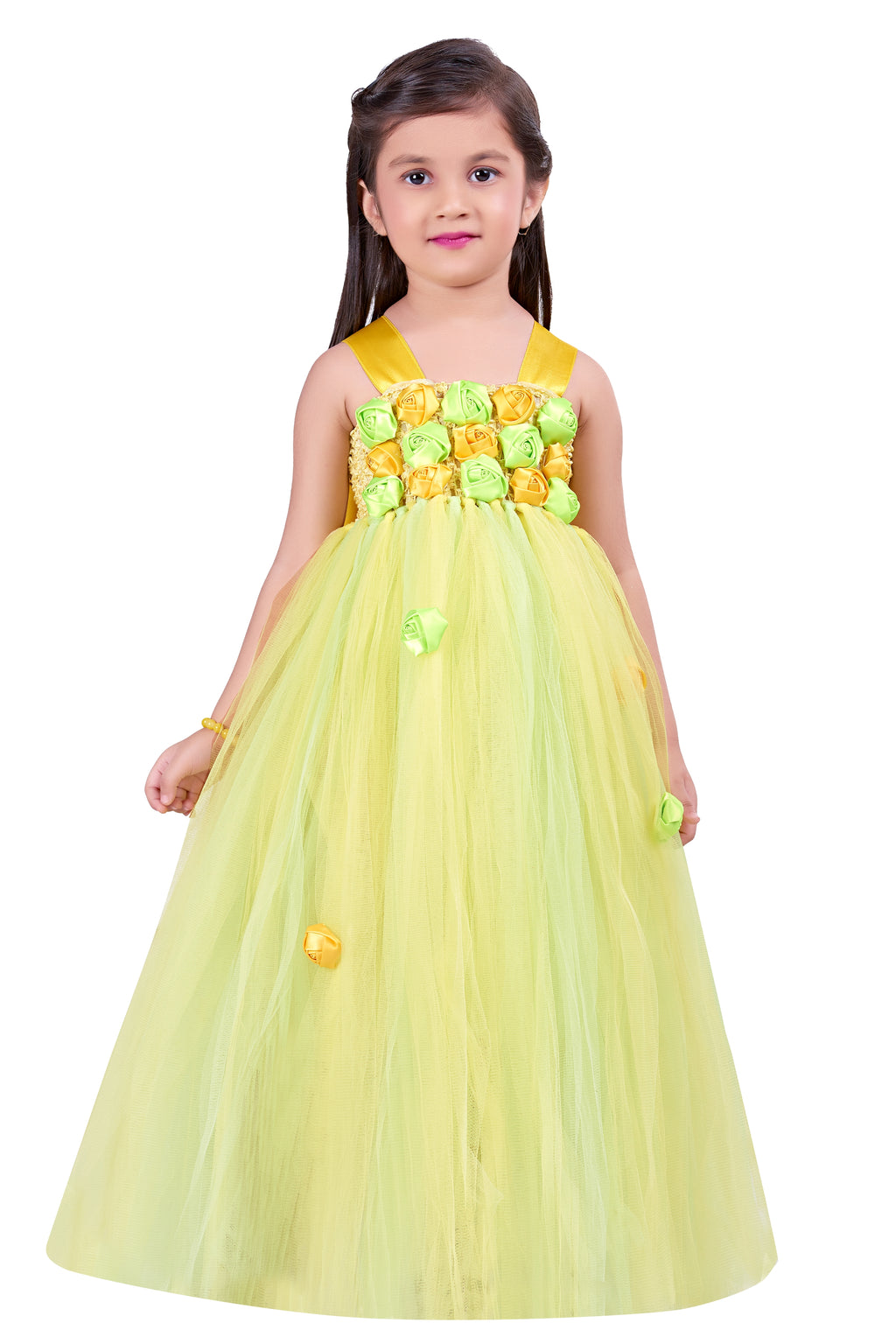 Yellow and Lime Flower Gown
