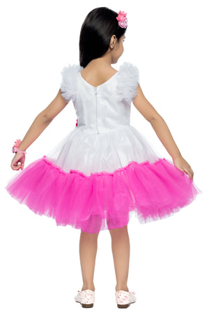 Pink and White   Party  Frock