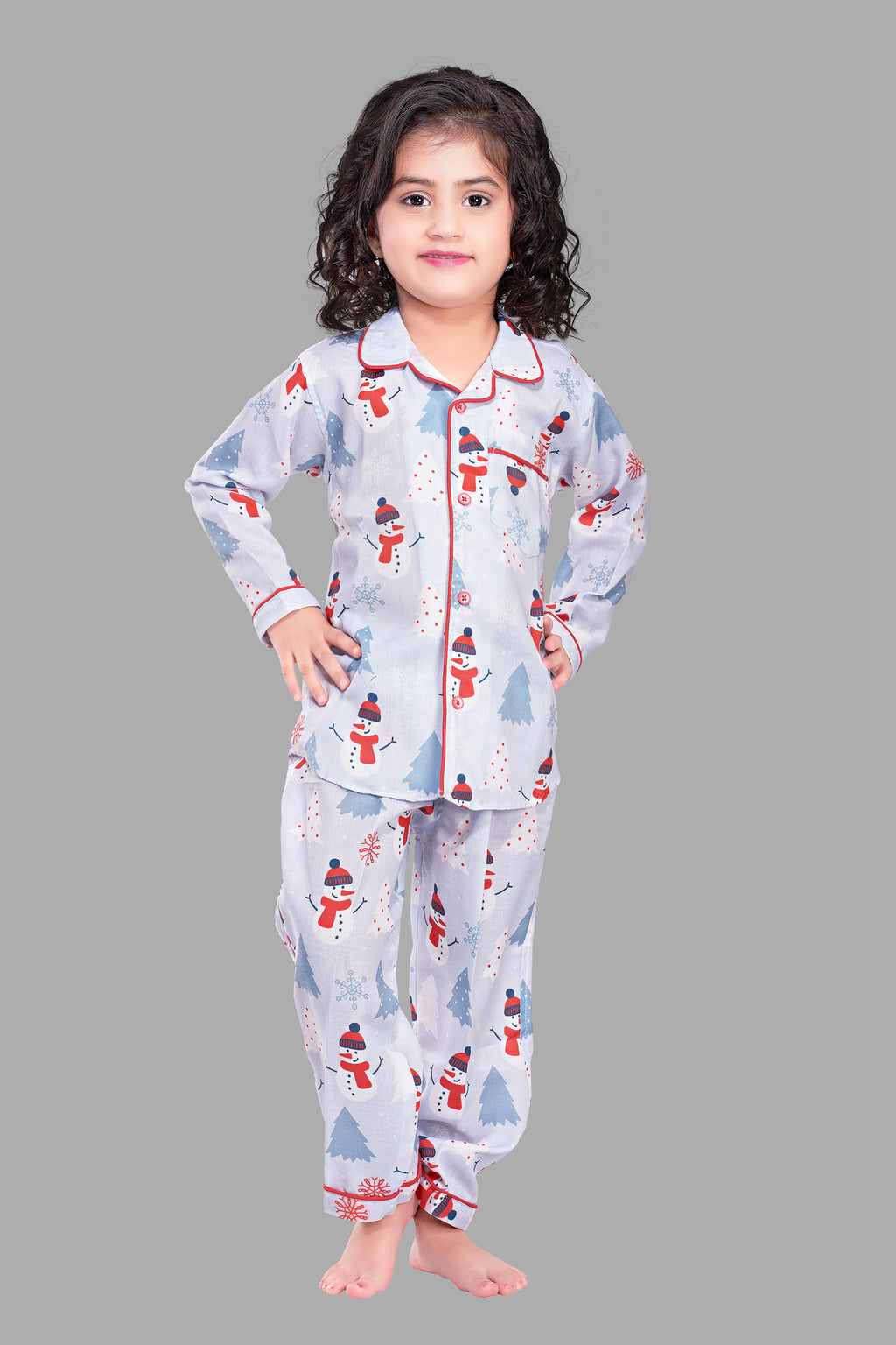 SnowMan FullSleeves Cotton Nightsuit