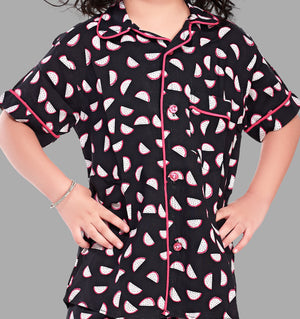 Watermelon Print  Cotton Nightsuit