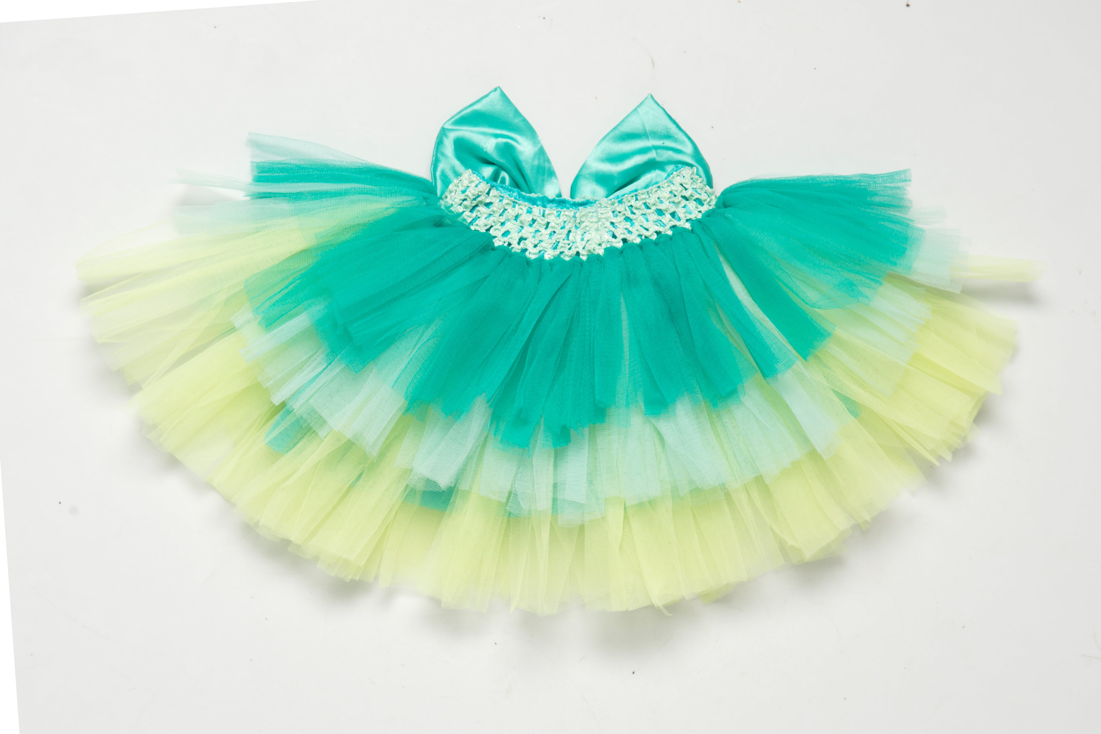 Lime  Layers Tutu Skirt  with Bow