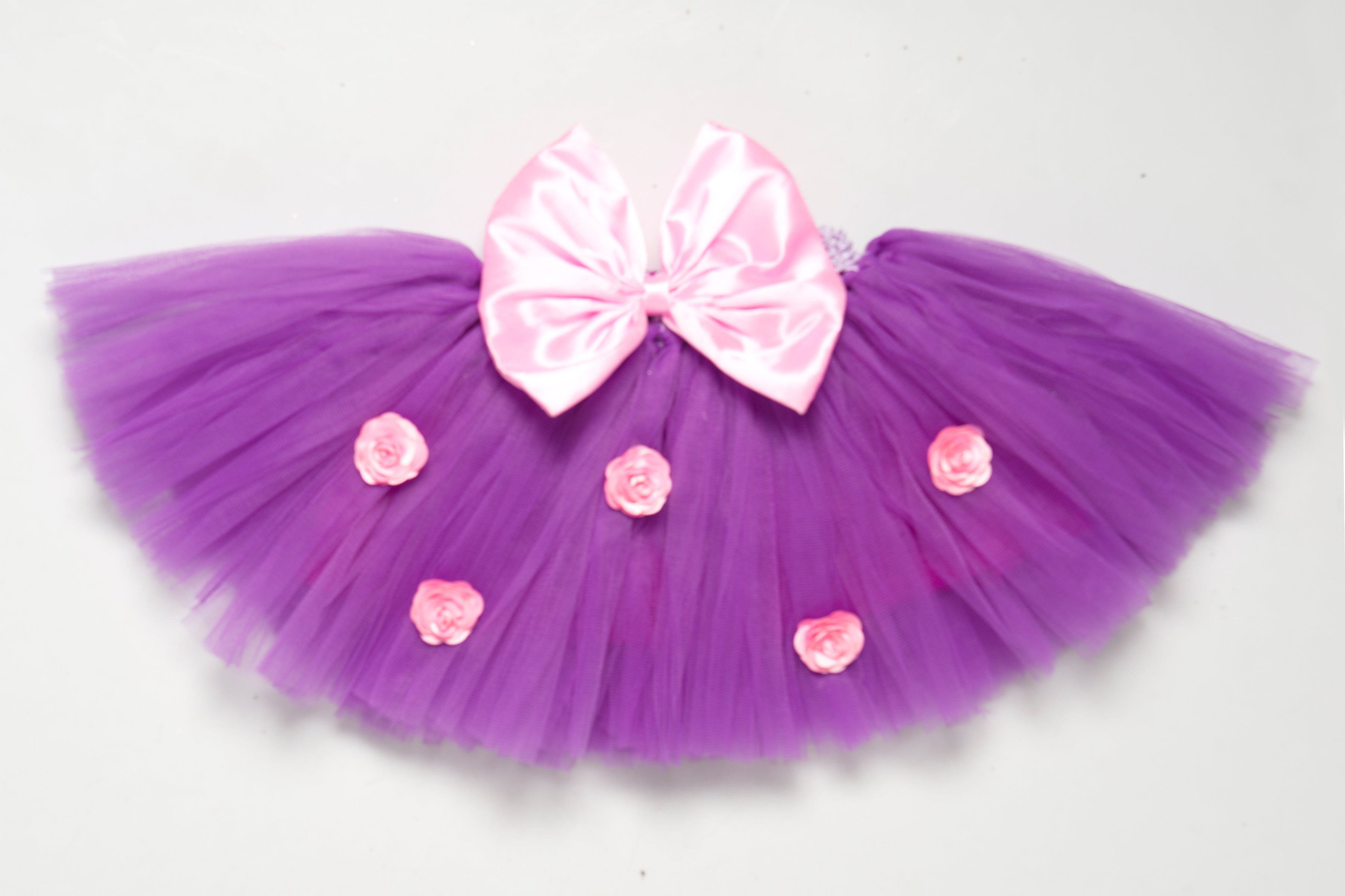 Purple & Pink Tutu Skirt with Bow