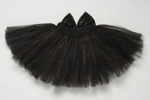 Black Tutu Skirt with Sequins Bow