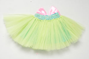 Mint & Pink Tutu Skirt with Sequins Bow