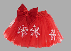 Christmas Red  Tutu Skirt