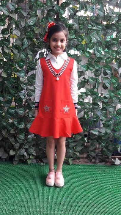 Super Sale -Red Pinafore