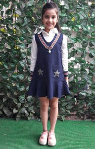 Super Sale -Navy Blue Pinafore